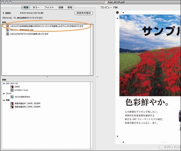 非効率な圧縮・ASCIIエンコーディングオブジェクトエラーPS画面